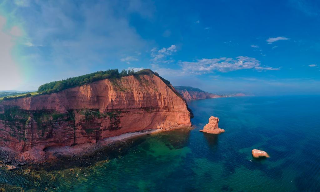 devon cliff view